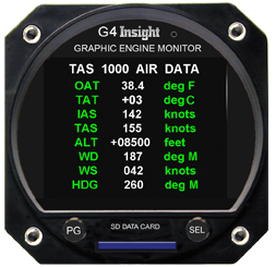 In G Series Version 208 The G3 4 Has A New Page That Displays Data Received From Tas 1000